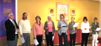 Shambhala Day across the region included the welcoming of new members; shown above are new members in Sonoma.