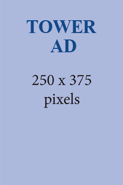 TOWER AD SHAPE 250X375 PIXELS