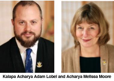 Kalapa Acharya Adam Lobel and Acharya Melissa Moore